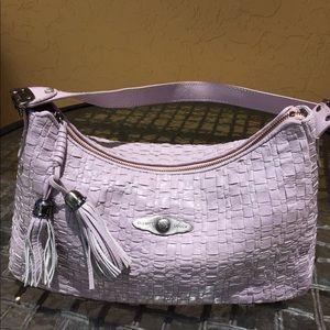 Elliott Lucca Lavender Leather Weave